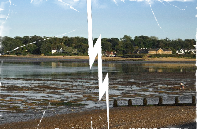 >Broken Display Image of: Bembridge from St Helens At Low Tide by Rod Johnson