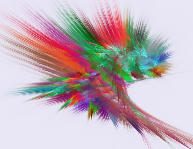 Feathery Bouquet on White - Abstract Art by Rod Johnson