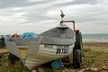 >Fishing Boat WY837 on Saltburn Beach by Rod Johnson