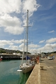 >Yacht and Boats Alongside Newlyn Pier by Rod Johnson