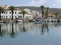 >Fornells Harbour, Menorca by Rod Johnson