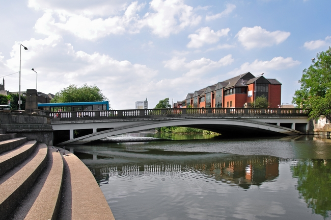 Exeter Bridge, Derby by Rod Johnson