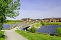 >Foot-bridge and Lake, Barton Marina by Rod Johnson