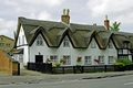 >Thatched Cottages In Repton by Rod Johnson