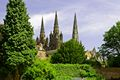 >Lichfield Cathedral from the Garden by Rod Johnson