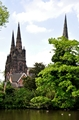 >Lichfield Cathedral from Minster Pool by Rod Johnson