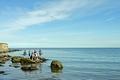 >Rock Pool Fishing, Runswick Bay by Rod Johnson
