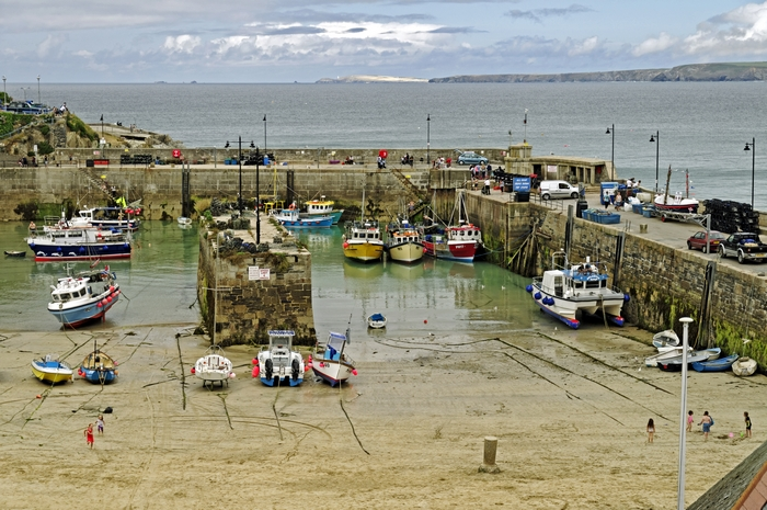 Newquay Harbour at Low Water by Rod Johnson