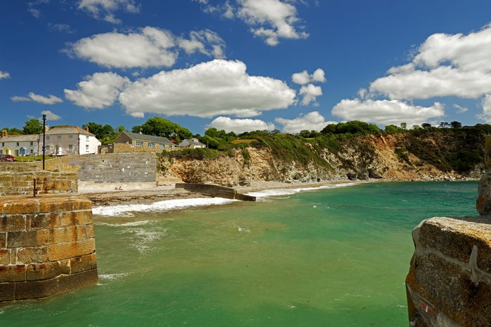 Charlestown Beach and Cliffs by Rod Johnson