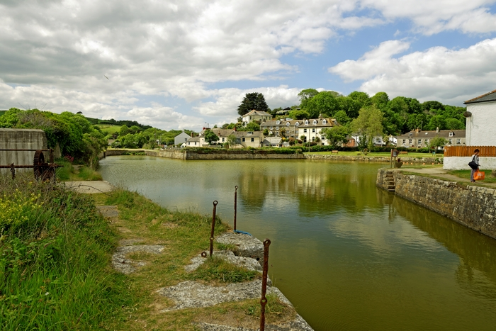 The Harbour With No Boats, Pentewan by Rod Johnson