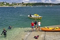 >Swimmers on the Slipway, St Mawes by Rod Johnson