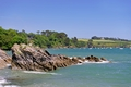 >Rocks off Trebah Beach, Cornwall by Rod Johnson