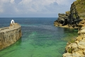 >Pier, Lookout Hut and Cliffs, Portreath by Rod Johnson