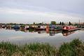 >Narrowboats at Barton Marina by Rod Johnson