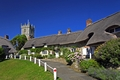 >Thatched Cottages and Church, Godshill by Rod Johnson