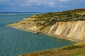 >The Coloured Sand Cliffs of Alum Bay by Rod Johnson