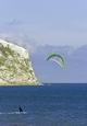 >Kite-surfer at Yaverland by Rod Johnson