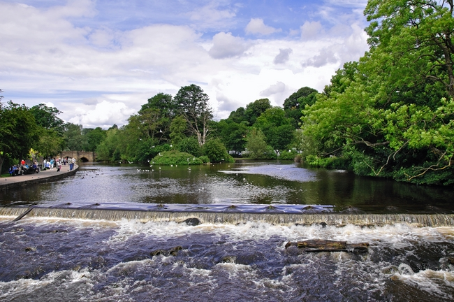 River Wye and Weir, Bakewell by Rod Johnson