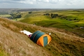 >Tent Sited Near Summit of Mam Tor by Rod Johnson