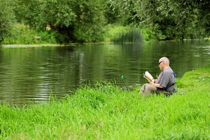 >Taking a Break From Fishing by Rod Johnson