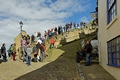 >Congestion On The Steps, Whitby by Rod Johnson