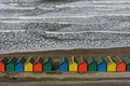 >Waves and Beach Huts, Whitby by Rod Johnson