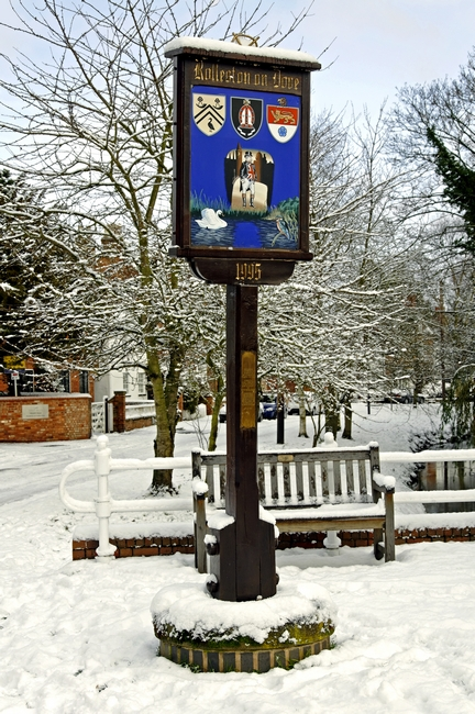 Rolleston on Dove, Village Sign by Rod Johnson