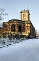 >St Modwen's Church, Burton - in the Snow by Rod Johnson