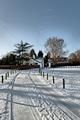 >Snow Tracks, Rolleston on Dove by Rod Johnson