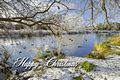 >Card - Wintry River at Newton Road Park by Rod Johnson