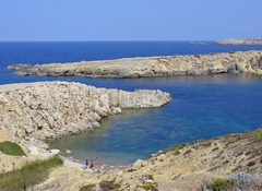 A view across the rocky cove at Son Parc in Mallorca, Spain. Link to Mallorca Gallery.
