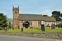 View of St Michael's Church at Willington in Derbyshire. Link to Churches Gallery.