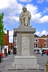 View of the Dr Samuel Johnson Statue, Lichfield