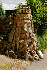 A Dead Tree Carving of Neptune Sea God. Link to Sculptures and Carvings Gallery.